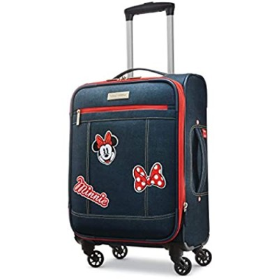 American Tourister Disney Softside Luggage with Spinner Wheels  Minnie Mouse Denim  Carry-On 21-Inch