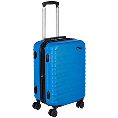 Basics Hardside Carry-On Spinner Suitcase Luggage - Expandable with Wheels - 21 Inch  Blue