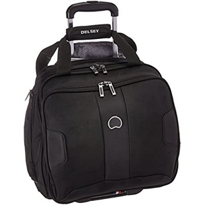 DELSEY Paris Sky Max 2.0 Softside Luggage Carry-on Under-Seater  2 Wheels  Black  15 Inch