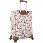 Lily Bloom Luggage Carry On Expandable Design Pattern Suitcase For Woman With Spinner Wheels (20in Giraffe Park)