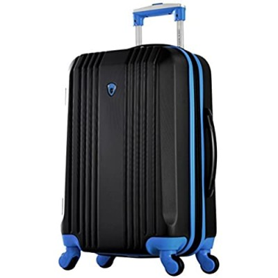 """Olympia Apache Ii 21"""" Carry-on Spinner  BLACK+BLUE  One Size"""