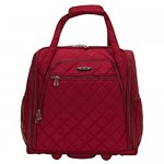 Rockland Melrose Upright Wheeled Underseater Carry-On Luggage Red 16-Inch