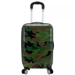 Rockland Safari Hardside Spinner Wheel Luggage Camouflage Carry-On 20-Inch