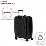 SwissGear 8836 Durable Expandable Spinner Luggage Black Carry-On 20-Inch