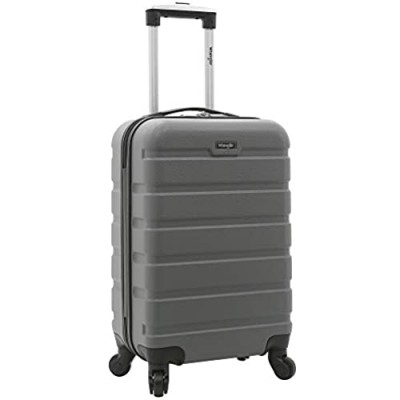 Wrangler Hardside Carry-On Spinner Luggage  Charcoal Grey  20-Inch