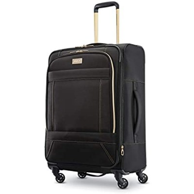 American Tourister Belle Voyage Softside Luggage with Spinner Wheels  Black  Checked-Medium 25-Inch