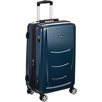 Basics Hard Shell Carry On Spinner Suitcase Luggage - 26.7 Inch  Navy Blue