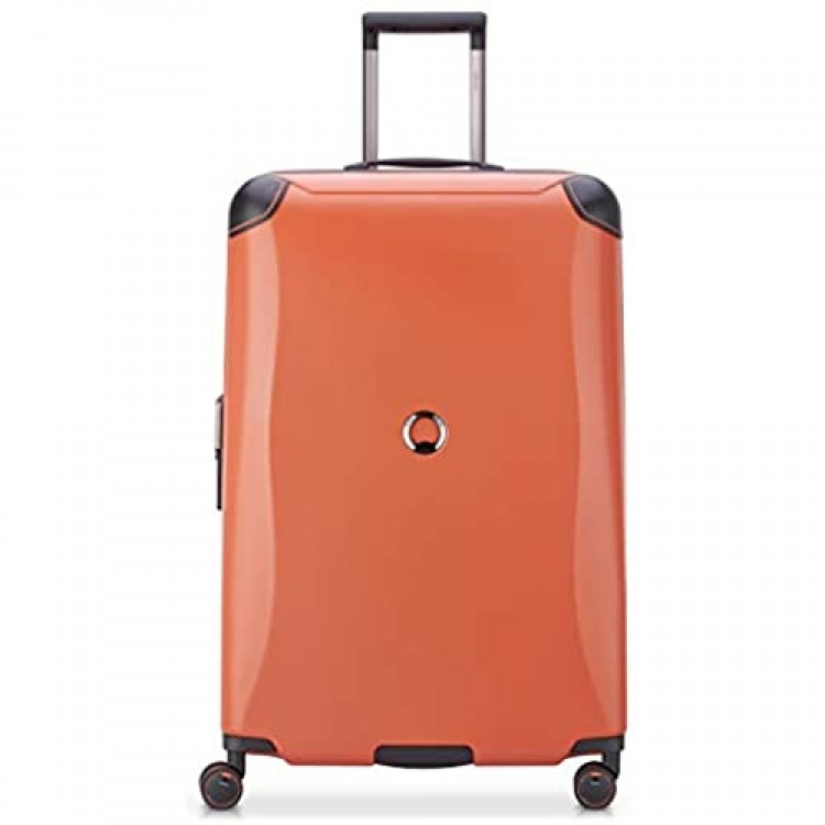 DELSEY Paris Cactus Hardside Luggage with Spinner Wheels Orange Checked-Large 28 Inch