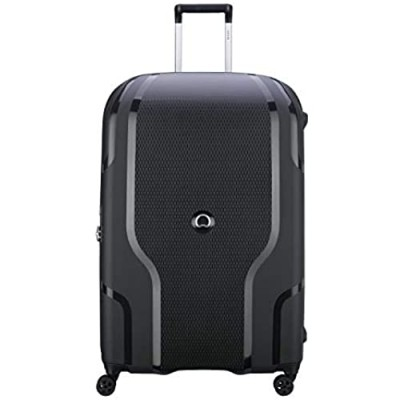 DELSEY Paris Clavel Hardside Expandable Luggage with Spinner Wheels  BLACK  Checked-Large 30 Inch