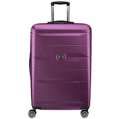 DELSEY Paris Comete 2.0 Hardside Expandable Luggage with Spinner Wheels  Purple  Checked-Large 28 Inch 40386583008