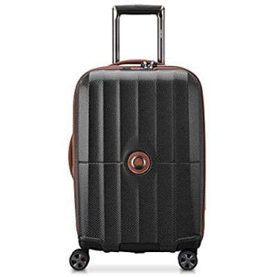 DELSEY Paris St. Tropez Hardside Expandable Luggage with Spinner Wheels  Black  Checked-Large 28 Inch
