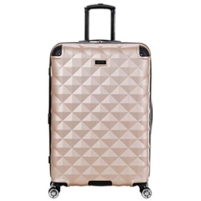 Kenneth Cole Reaction Diamond Tower Luggage Collection Lightweight Hardside Expandable 8-Wheel Spinner Travel Suitcase  Rose Champagne  28-Inch Checked