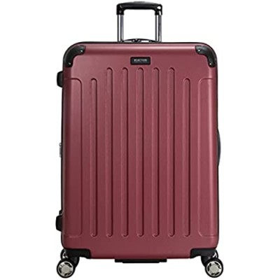 """Kenneth Cole Reaction Renegade 28"""" Lightweight Hardside Expandable 8-Wheel Spinner Checked-Size Luggage  Sangria  inch"""