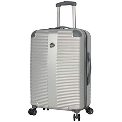 """Lucas Luggage Hard Case 27"""" Expandable Suitcase With Spinner Wheels (27in  Tread Silver)"""