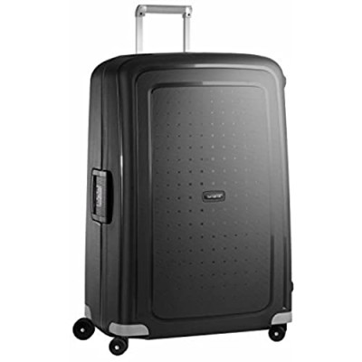 Samsonite S'Cure Hardside Luggage with Spinner Wheels  Black  Checked-Large 30-Inch