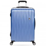 SwissGear 7272 Energie Hardside Expandable Luggage with Spinner Wheels Periwinkle blue Checked-Medium 24-Inch