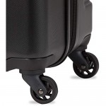 SWISSGEAR 7366 Hardside Expandable Luggage with Spinner Wheels (Medium Checked Black)