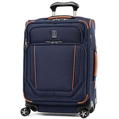 Travelpro Crew Versapack-Softside Expandable Spinner Wheel Luggage  Patriot Blue  Carry-On 21-Inch