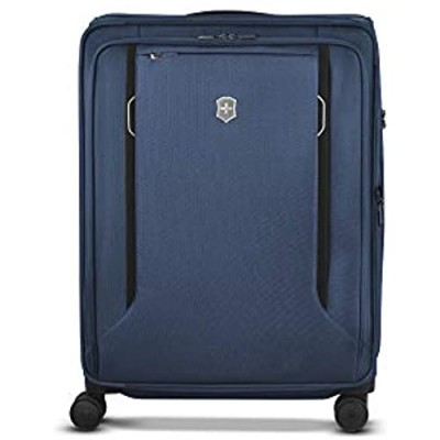 """Victorinox WT 6.0 Softside Spinner Luggage  Blue  Checked-Large (27"""")"""