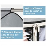 AOODA 2 Packs Clear Garment Bags for Closet Storage with PVC Window Well Sealed 54 inch Large Hanging Garment Clothes Cover Protector for Dresses Suits Coats Jackets (Frameless) Grey