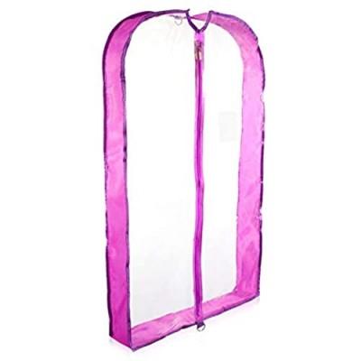 "DALIX 40"" Clear Garment Bag in Purple"