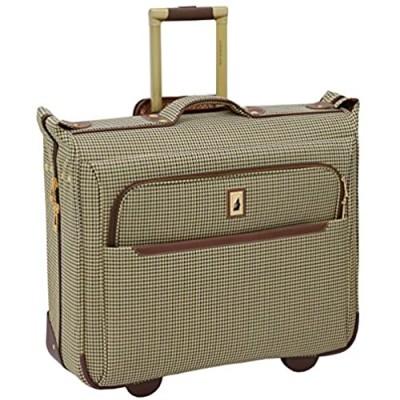 LONDON FOG Cambridge II Softside Rolling Garment Bag  Olive Houndstooth  44-Inch