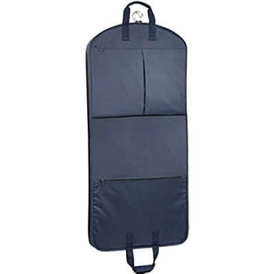 WallyBags Heavy Duty Travel Garment Bag with Pockets  Navy  52-inch