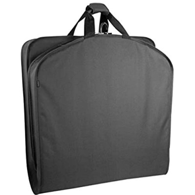 WallyBags Lightweight Durable Garment Bag for Travel and Storage  Black  40-inch