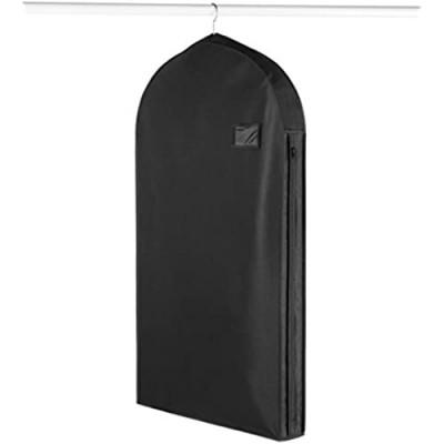 Whitmor Deluxe Zippered Suit Bag  Black
