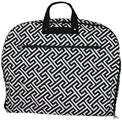 World Traveler 40-inch Hanging Garment Bag-Greek Key H Black White  One Size