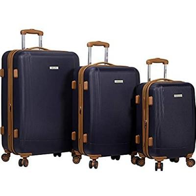 Dejuno Legion 3-pc Hardside Spinner TSA Combination Lock Luggage Set  Navy  One Size