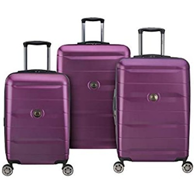 DELSEY Paris Comete 2.0 Hardside Expandable Luggage with Spinner Wheels  Purple  3-Piece Set (21/24/28)