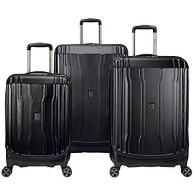 DELSEY Paris Cruise Lite Hardside 2.0 Expandable Luggage  Spinner Wheels  Black  3-Piece Set (21/25/29)