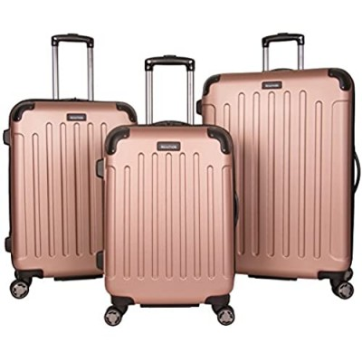 """Kenneth Cole Reaction Renegade 3-Piece Luggage Lightweight Hardside Expandable 8-Wheel Spinner Travel Suitcase Set  Rose Gold  (20""""/24""""/28"""")"""