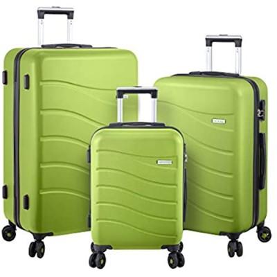 Luggage Set Hard Shell With Spinner Goodyear Wheels - Integrated TSA lock - Set of 3 Pieces - Hard Case ERA - Apple Green