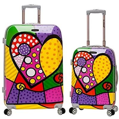 Rockland Departure Hardside Spinner Wheel Luggage Set  Heart  2-Piece (20/28)