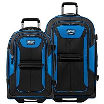 Travelpro Bold-Softside Expandable Rollaboard Upright Luggage  Blue/Black  2-Piece Set (22/28)