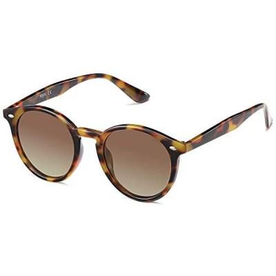 SOJOS Classic Retro Round Polarized Sunglasses for Women Men SJ2069 ALL ME