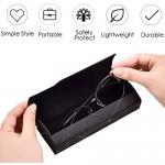 generies Absmarter Hard Shell Eyeglasses Case Unisex Glasses Holder Clamshell Case Portable Spectacles Reading Glasses Case Leather for Men Women (Black) Medium