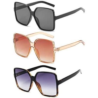Dollger Oversized Square Sunglasses for Women Big Large Wide Fashion Shades for Men 100% UV Protection Unisex