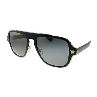 Versace VE 2199 12524T Havana Plastic Square Sunglasses Grey Mirror Lens