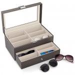 Carbon Fiber Sunglasses Organizer Eyeglasses Collector Sunglasses Storage
