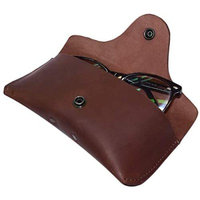 Hide & Drink  Thick Sturdy Leather Eyeglasses Case  For (6 In.) Long Glasses  Eyewear-Sunglasses Protector  Heavy Duty  Portable Holder Handmade Includes 101 Year Warranty :: Bourbon Brown