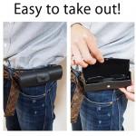 M-world Leather-Tone Snap Belt Loop Soft-case Eye Glasses Case (Black)