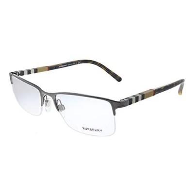 Burberry BE 1282 1008 Brushed Gunmetal Metal Semi-Rimless Eyeglasses 55mm