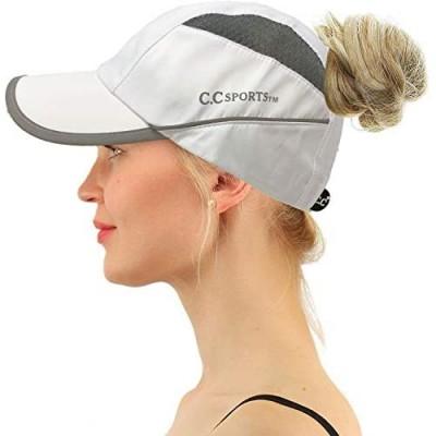 C.C Sports Active Ponytail Messy Buns Ponycaps Baseball Visor Cap Dad Hat