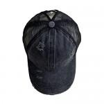 Criss Cross Ponytail Hats for Women Ponytail Vintage Washed Dad Hat Messy High Bun Ponycaps Plain Baseball Cap Women Hats