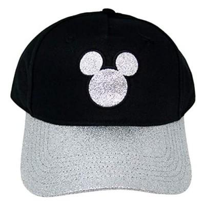 Disney Silver Tone Glitter Mickey Mouse Baseball Cap