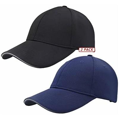 Reflective Brim Low Profile Solid Plain Baseball Hats Adjustable Blank Ball Cap for Men Women Golf Hat