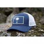 South Carolina Flag Palmetto Snapback Trucker Baseball Hat Navy Blue